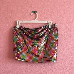 Wild Fable sequin tube top